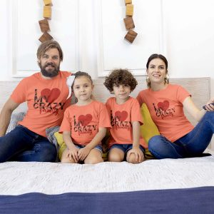 I Love My Crazy Family Matching Tees
