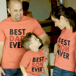 Best Dad/Mom/Son Ever Matching Tees