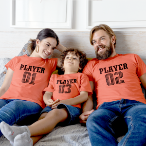 Player 01/02/03 Family Matching Tees