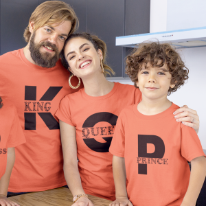 King Queen Prince Family Matching Tees